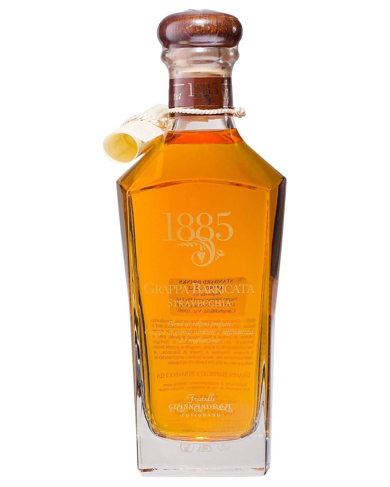 Grappa F.G. 1885 Stravecchia Barricata 700mL bottle