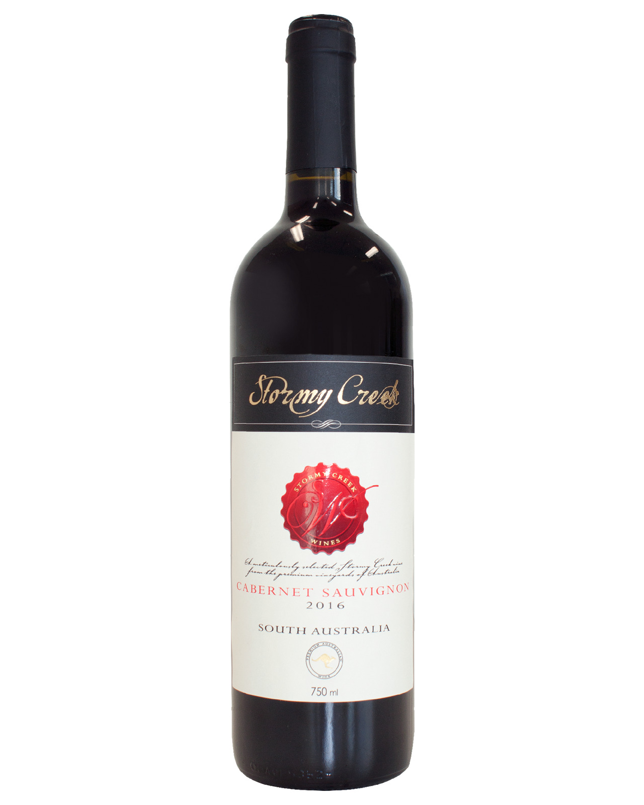 Stormy Creek Cabernet Sauvignon 2016 case of 6 Dry Red Wine 750ml