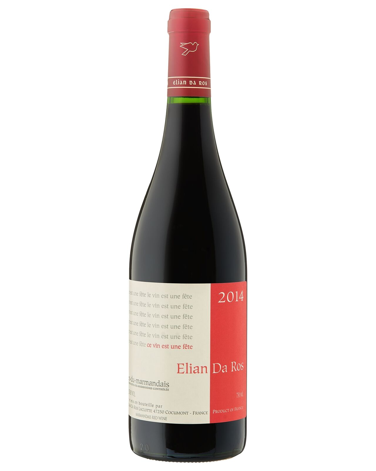 Domaine Elian da Ros 2014 case of 12 Red Blend Dry Red Wine 750mL