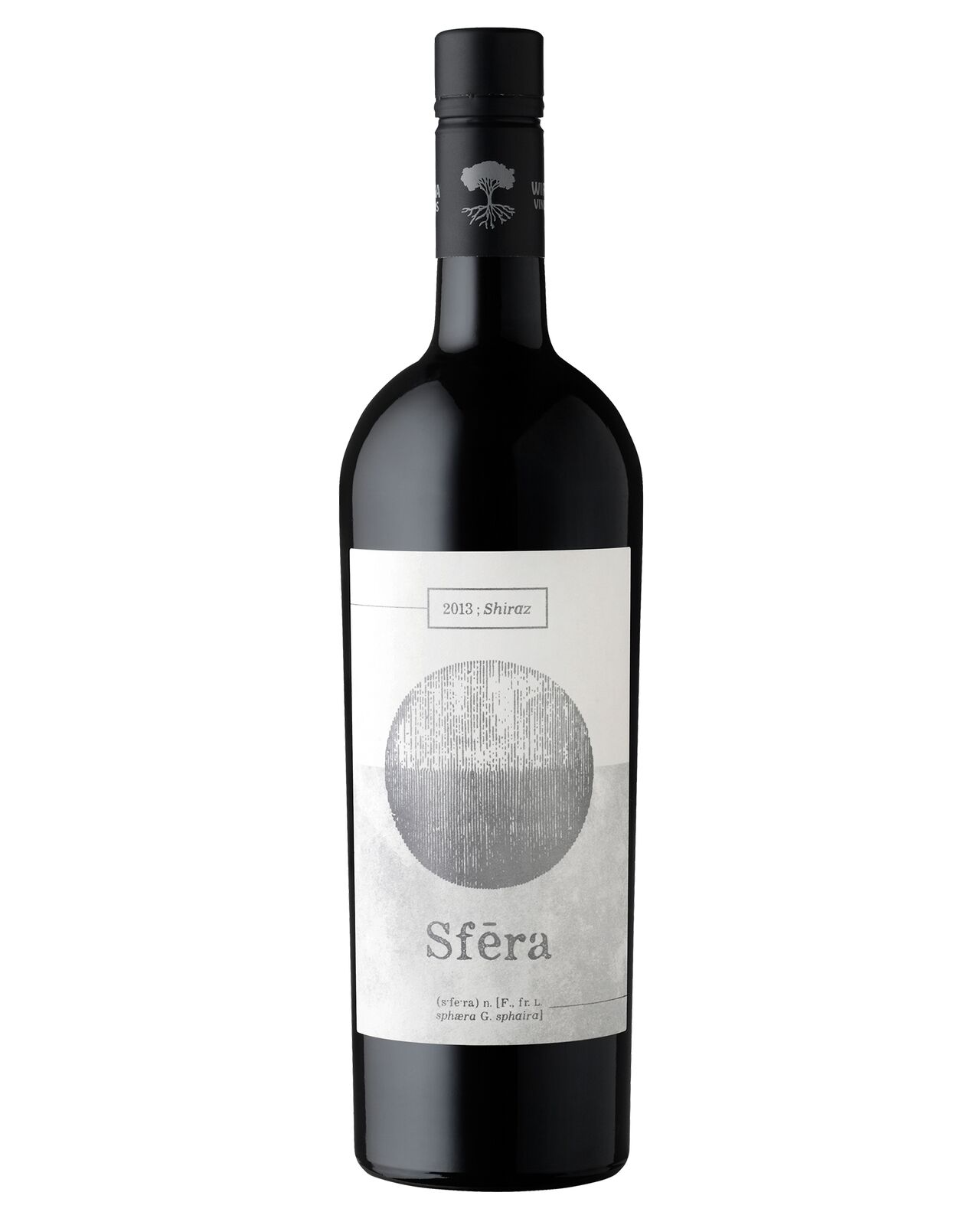Wirrega Vineyards Sfera Shiraz 2013 case of 6 Dry Red Wine 750mL Limestone Coast