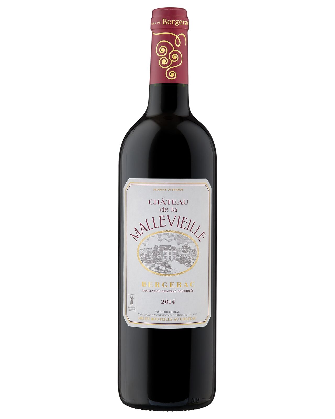 Chateau Mallevieille Cabernet Merlot 2014 bottle Red Blend Dry Red Wine 750mL