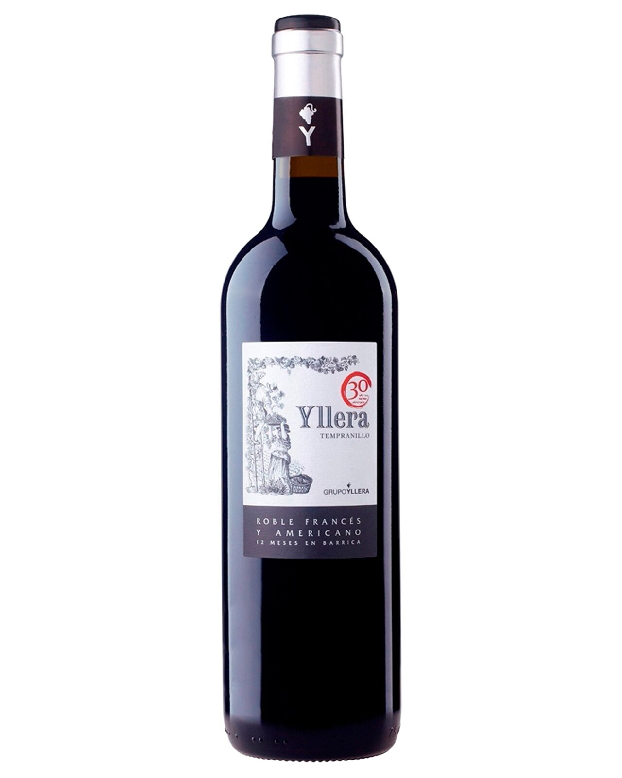 Yllera Crianza Tempranillo 2012 case of 6 Dry Red Wine 750mL Castilla y Leon