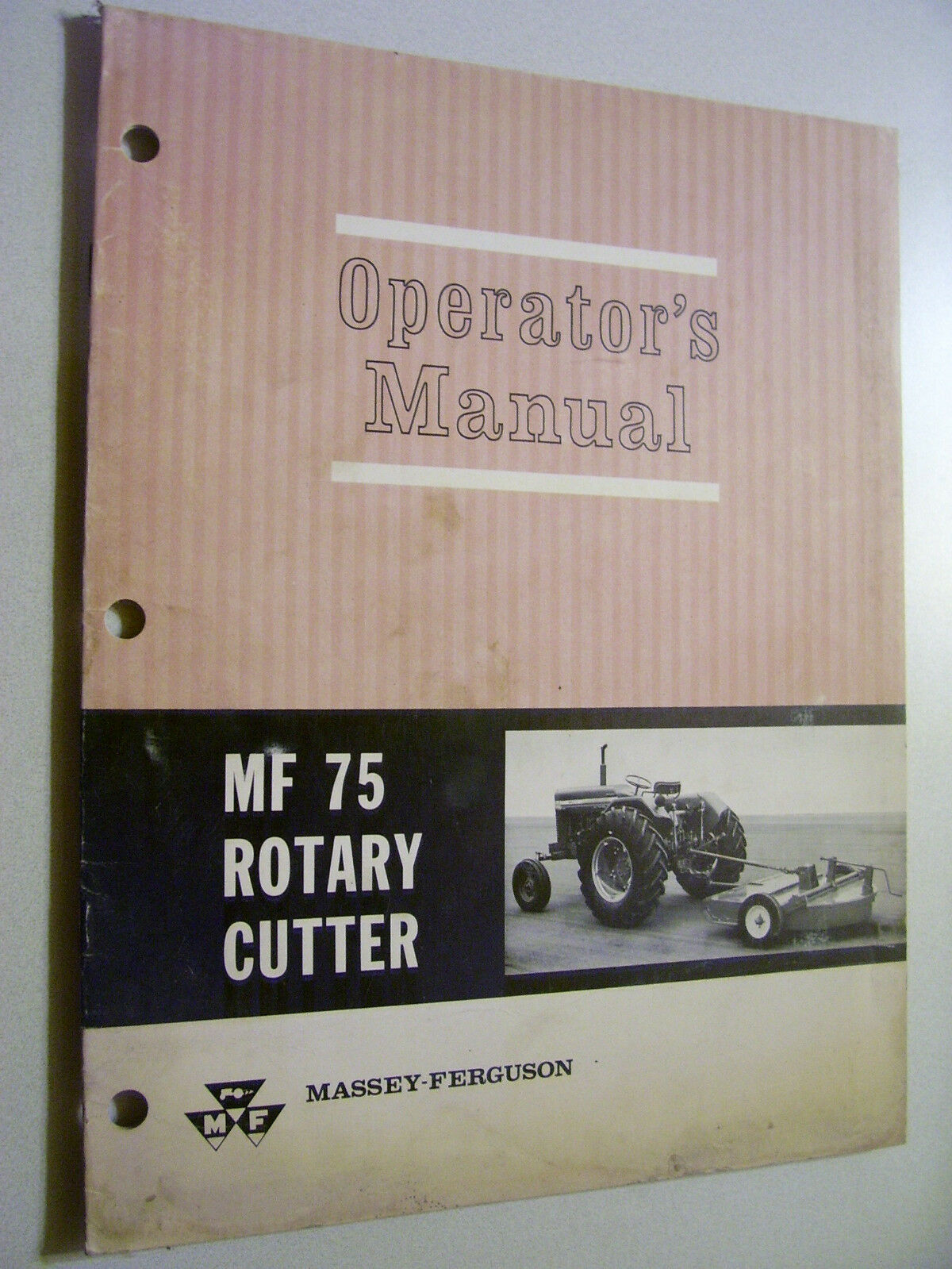 Vintage Massey Ferguson Operators Manual - Mf # 75 Rotary Cutter 1 of 1Only  1 available ...
