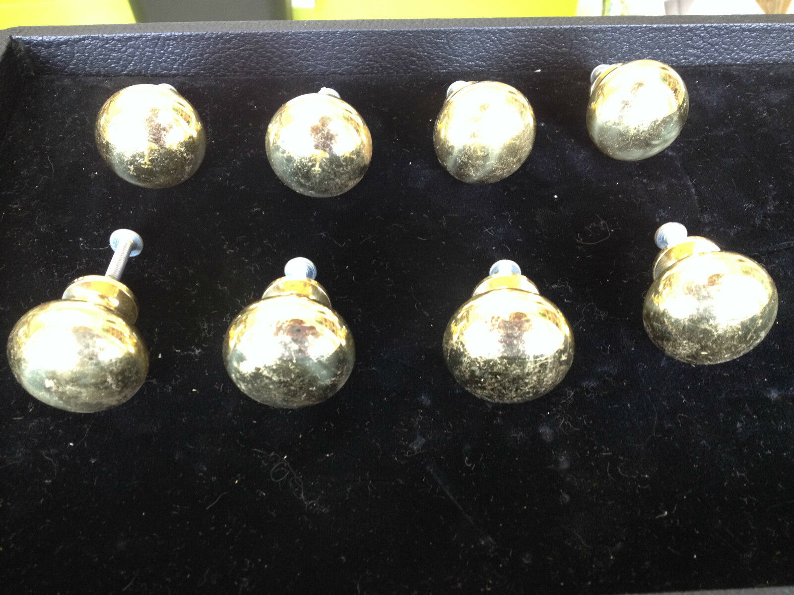 8 Solid Brass Drawer Pulls Knobs Vintage Handles Furniture Cabinet Hardware