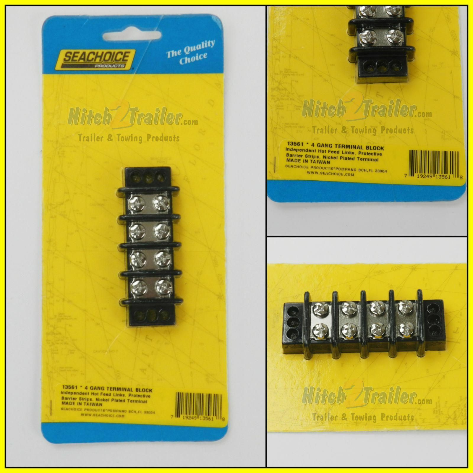Seachoice Wiring Diagram Library Block For Boat Marine 4 Gang Nickel Electric Screw Terminal Junction Switch Panel From Fuse