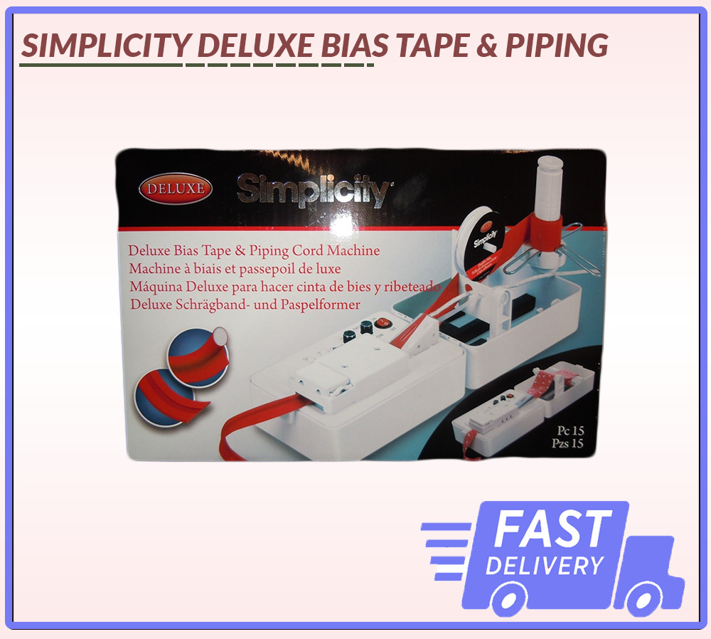 Deluxe Bias Tape Amp Piping Machine Simplicity Brand New