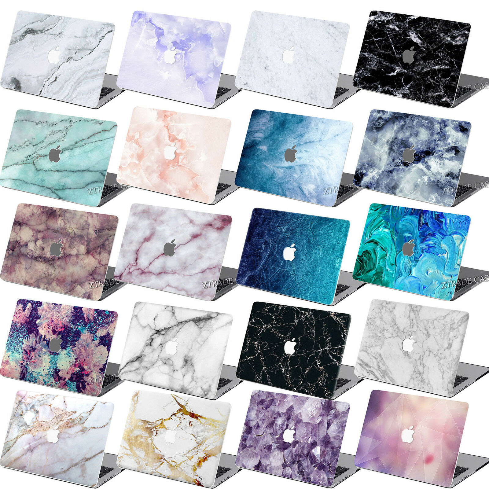 rubberized marble hard case cover for macbook air 11 pro