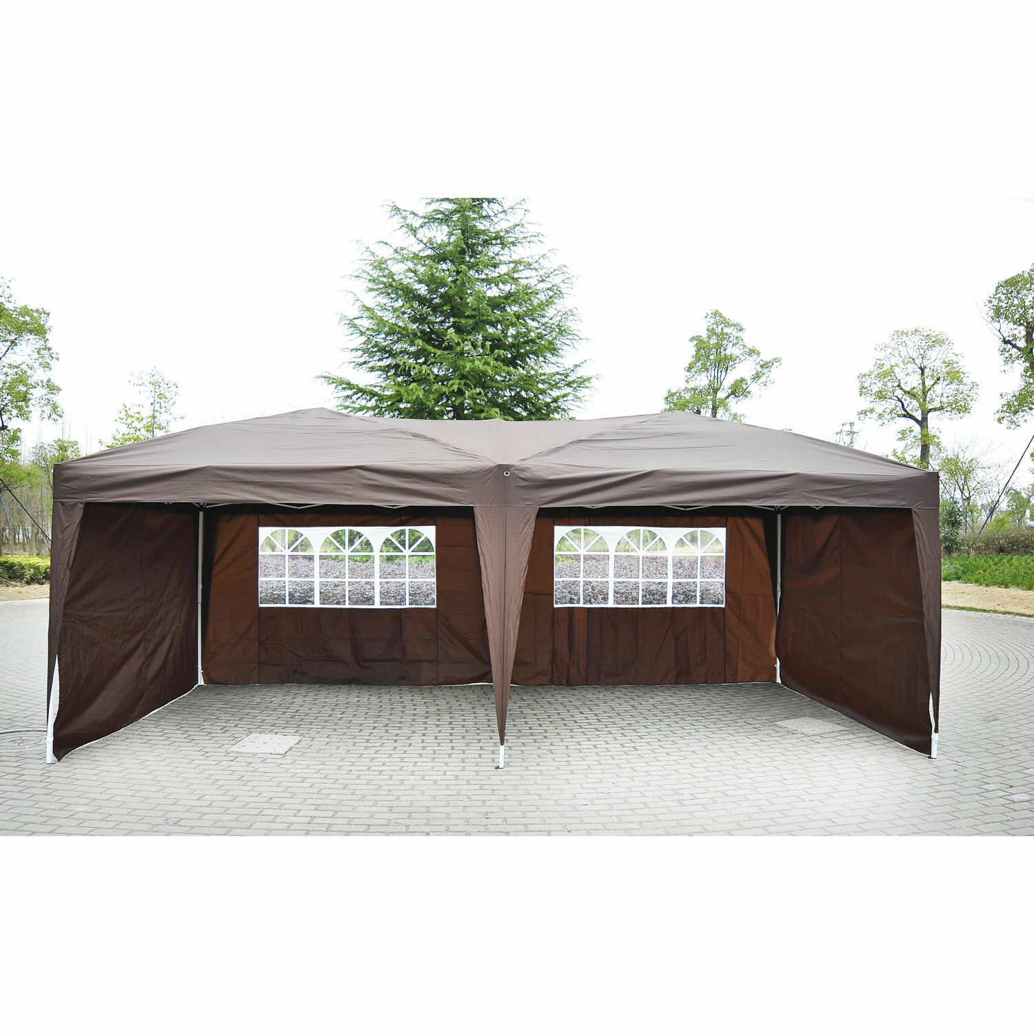 outsunny 10 39 x 20 39 patio gazebo pop up party tent wedding. Black Bedroom Furniture Sets. Home Design Ideas
