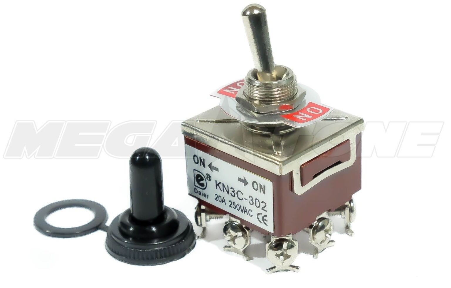 Heavy Duty 20a 125v 3pdt On Toggle Switch W Waterproof Boot Wiring Diagram 1 Of 8