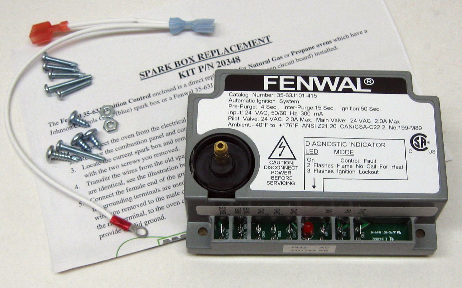 Spark Board For Blodgett 20348 Same Day Shipping 12989 Picclick Fenwal Automatic Ignition Module Wiring Diagram 1 Of 6free