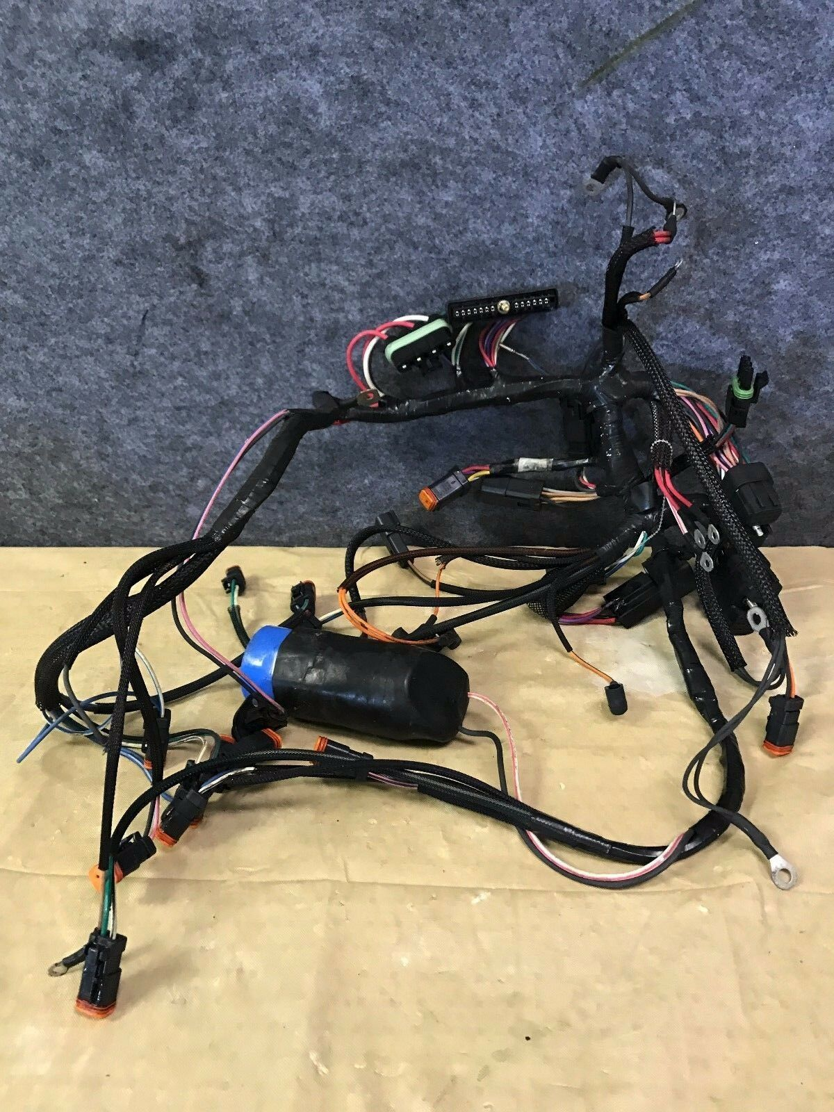 Clean Johnson Evinrude V4 Ficht 60 Degree 90 Hp Wiring Harness For Outboards 1 Of 1only Available