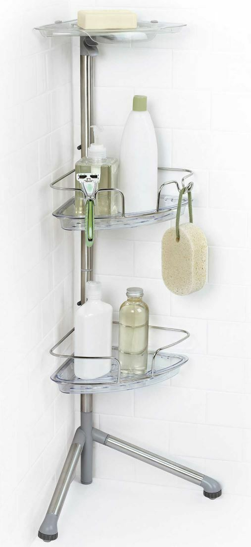 Stainless Steel Shower Caddy Corner Shelves Bath Shelf Basket Soap Holder  Decor 1 Of 5Only 1 Available ...
