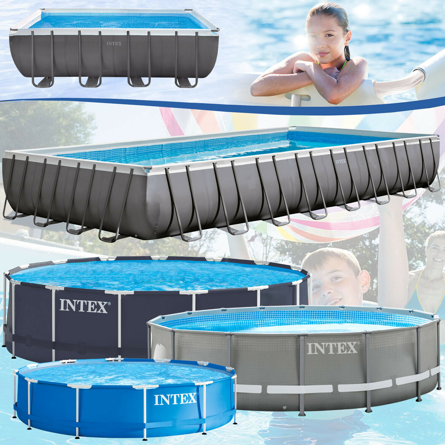 intex frame stahlrohrbecken swimming pool schwimmbad schwimmbecken planschbecken eur 62 90. Black Bedroom Furniture Sets. Home Design Ideas