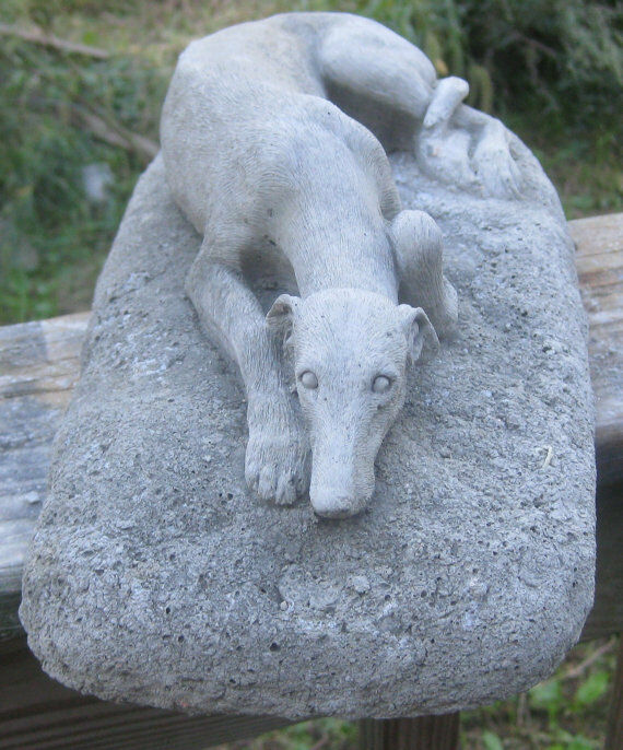 Ordinaire Concrete Greyhound Garden Statue Or Memorial 1 Of 3 ...