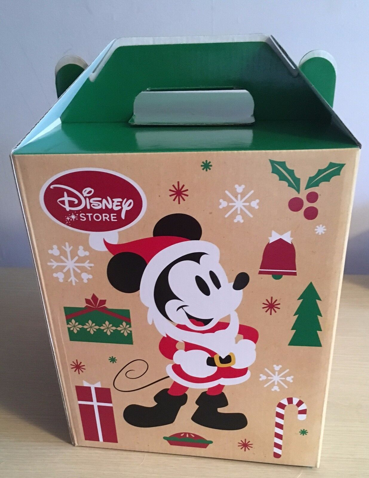 New disney store mickey mouse and friends christmas barn box small 26x21x21cm picclick uk - Disney store mickey mouse ...