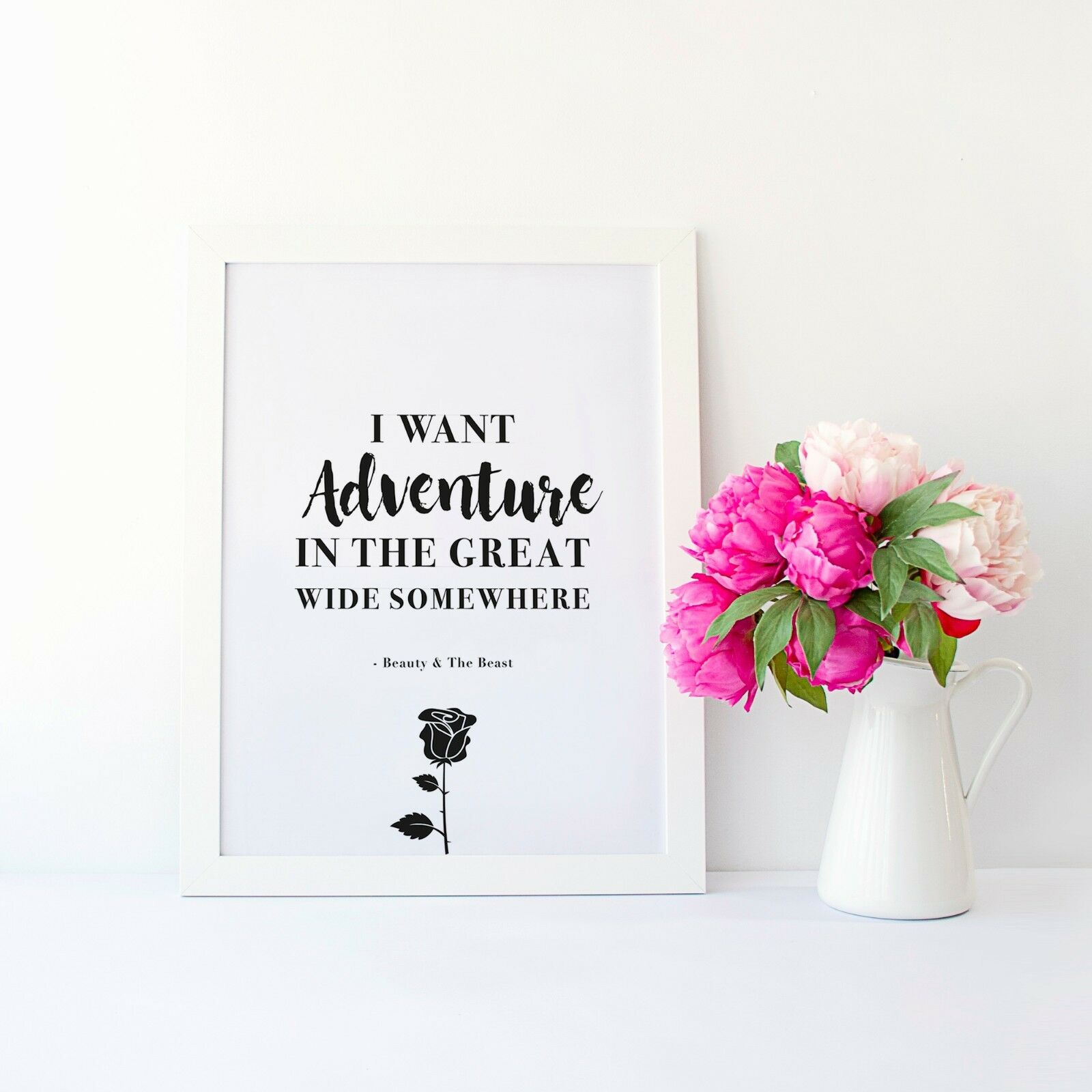 Disney Beauty And The Beast Wall Art Quote Print