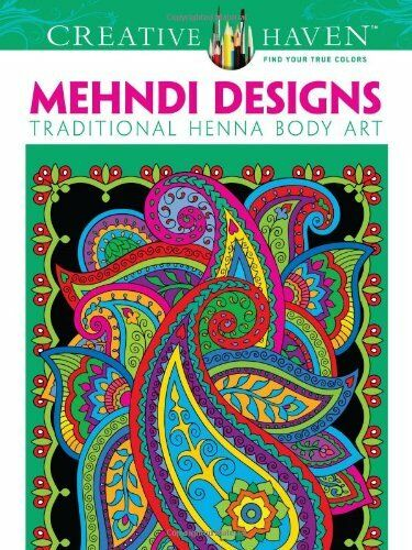 Dover Creative Haven Mehndi Designs Coloring Book Adult By Marty Nobl 1 Of 1FREE Shipping