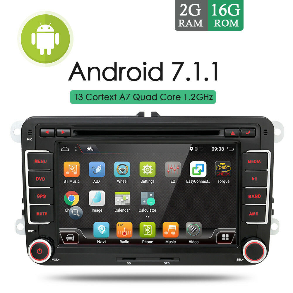 2g ram android 7 1 autoradio mit gps navi bluetooth dvd. Black Bedroom Furniture Sets. Home Design Ideas