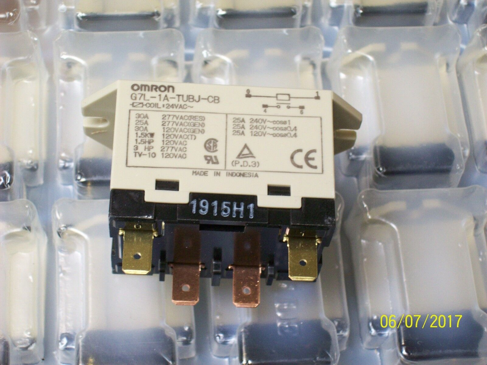 New Omron Relay 24vac G7l A1 Tubj Cb 1750 Picclick Power 1 Of 2only 4 Available See More