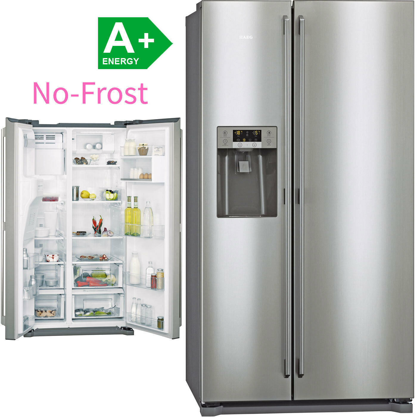 Aeg frostmatic no frost side by side kuhl for No frost kühl gefrierkombination