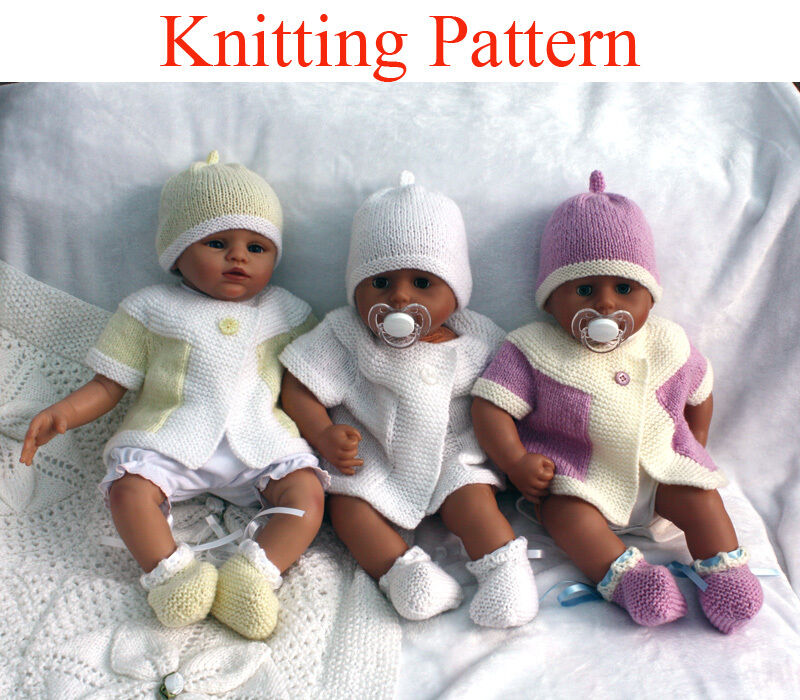 Knitting pattern for 0-6 month baby cardigan, hat & bootees   ?3.99 - Pic...