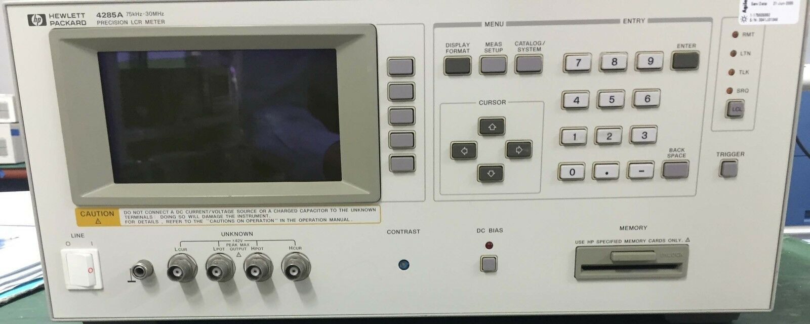 Agilent 4285a Lcr Meter Hp Label 352000 Picclick Lc Based On Pic16f84a 1 Of 3only Available