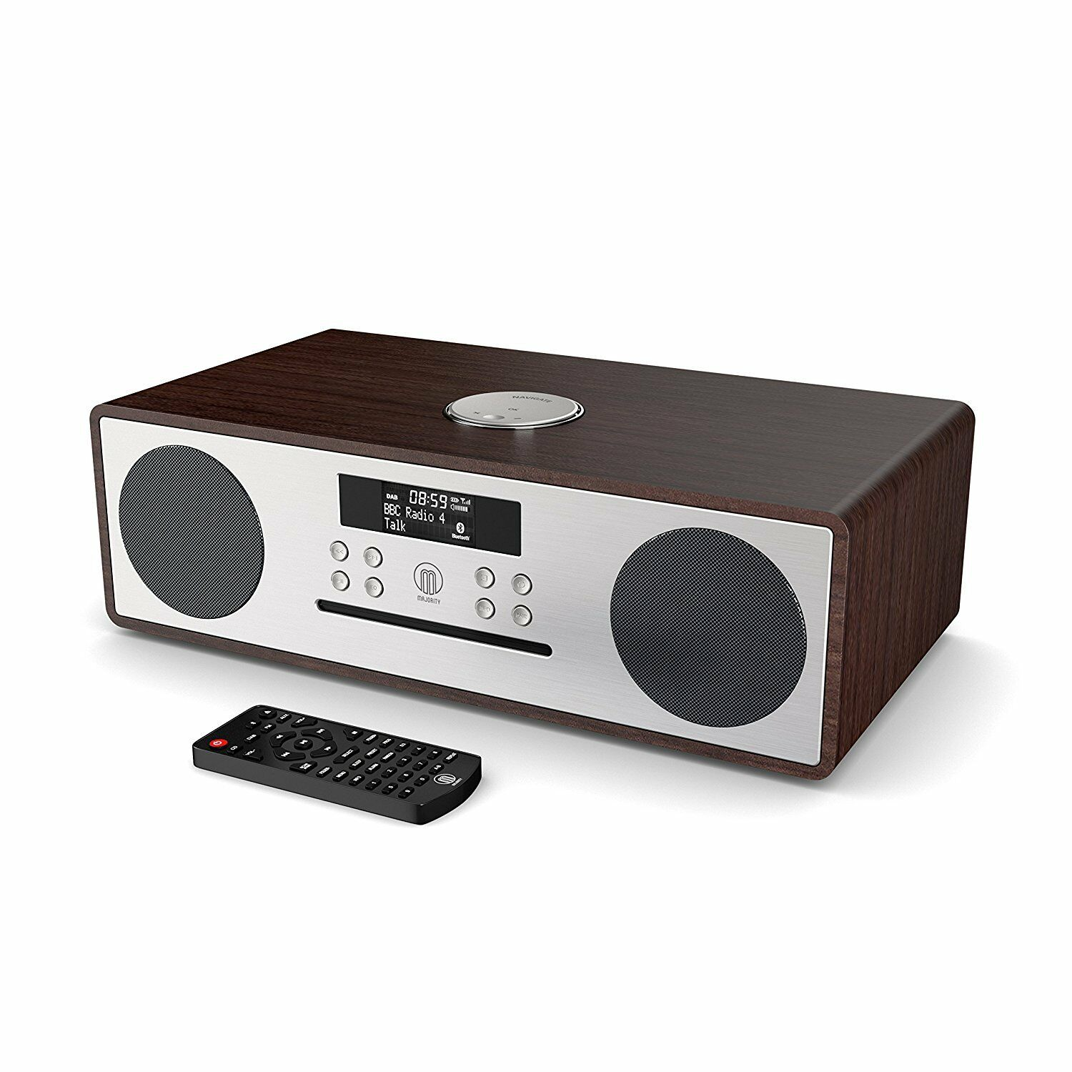majority oakington dab dab fm radio cd player with bluetooth micro hifi system. Black Bedroom Furniture Sets. Home Design Ideas