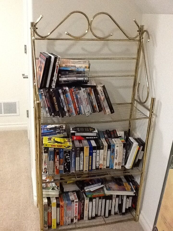 gold metal bookcase brass shelves wall display racks