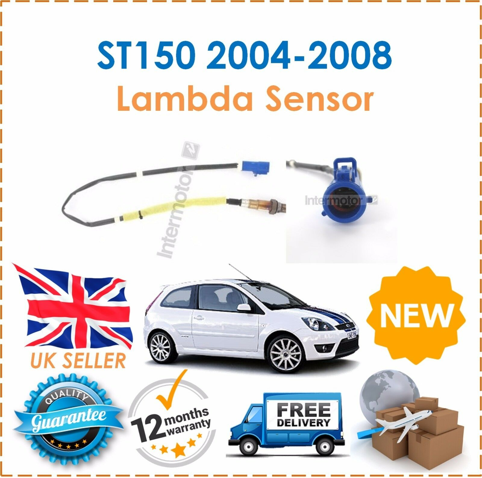 FOR FORD FIESTA 1.4 2002-08 4 WIRE FRONT LAMBDA OXYGEN SENSOR DIRECT FIT EXHAUST