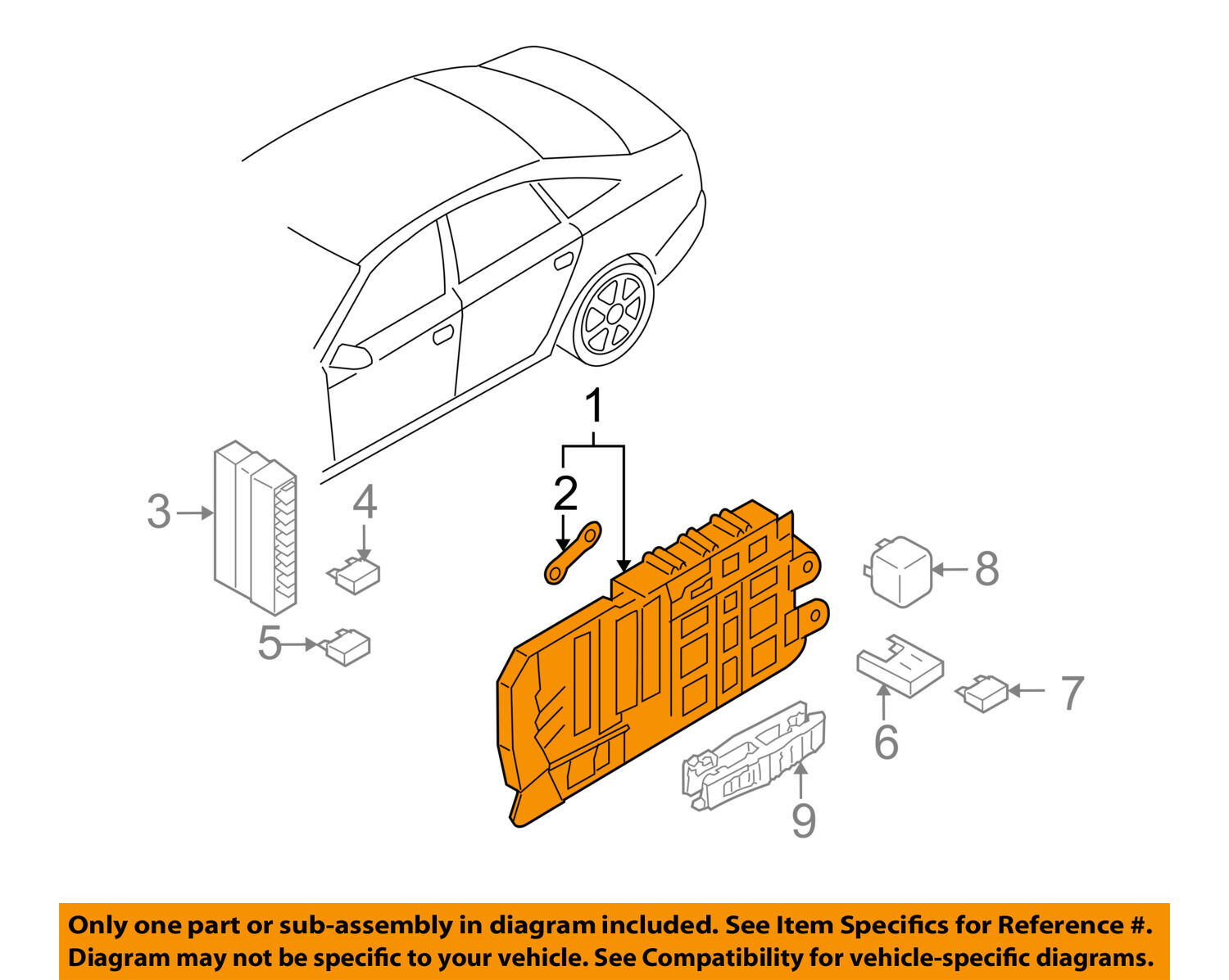 Audi Oem 05 06 A6 Quattro Electrical Fuse Relay Box 4f0971845 2006 1 Of 2free Shipping