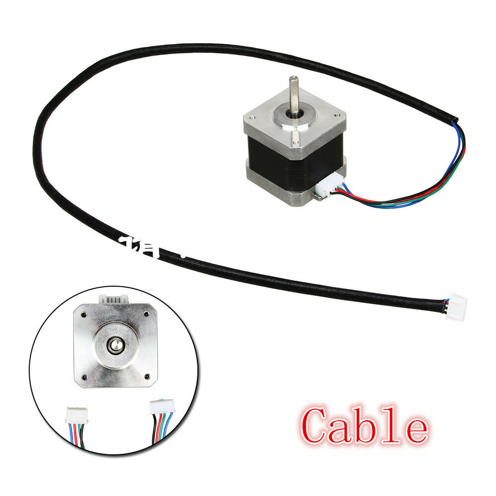 700mm 4 Wire Cable For 2 Phase Nema 17 Stepper Motor Cnc