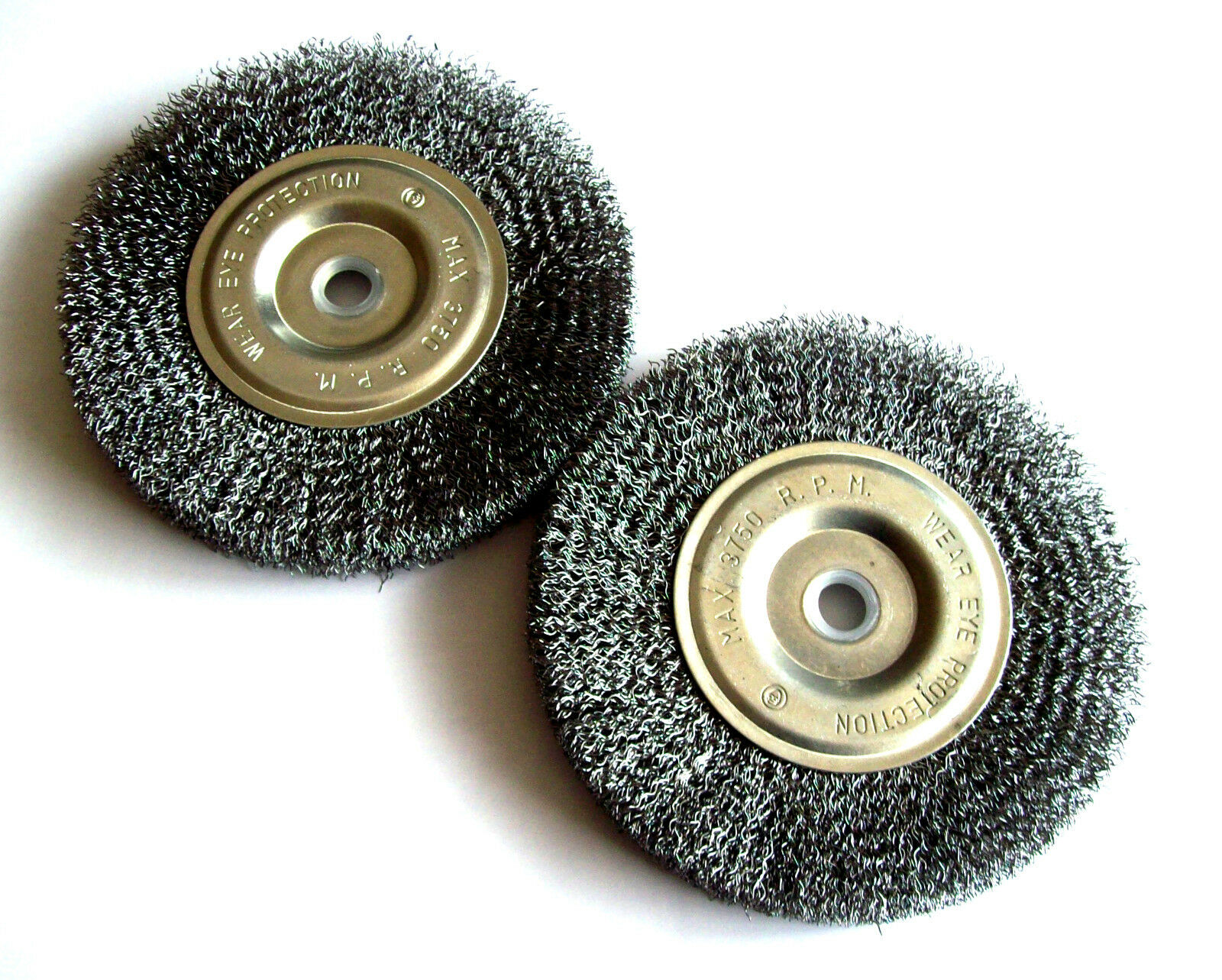 2 Ate Professional 6 Quot Steel Wire Wheel Brushes For Bench