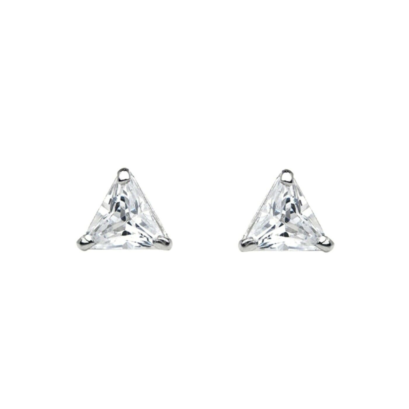 1 Ct Triangle Cut Created Diamond Stud Earrings 14k Solid White Gold Of 5only Available See More