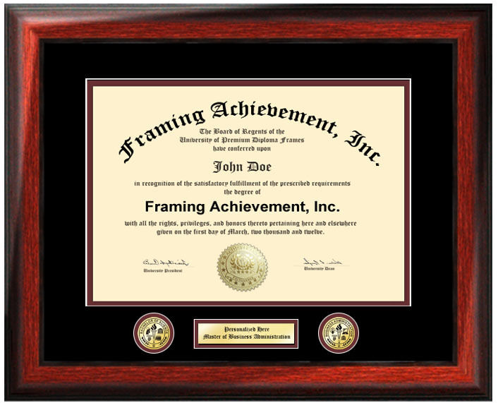 COLLEGE DIPLOMA FRAME Two Logo Seal Certificate Board Document ...