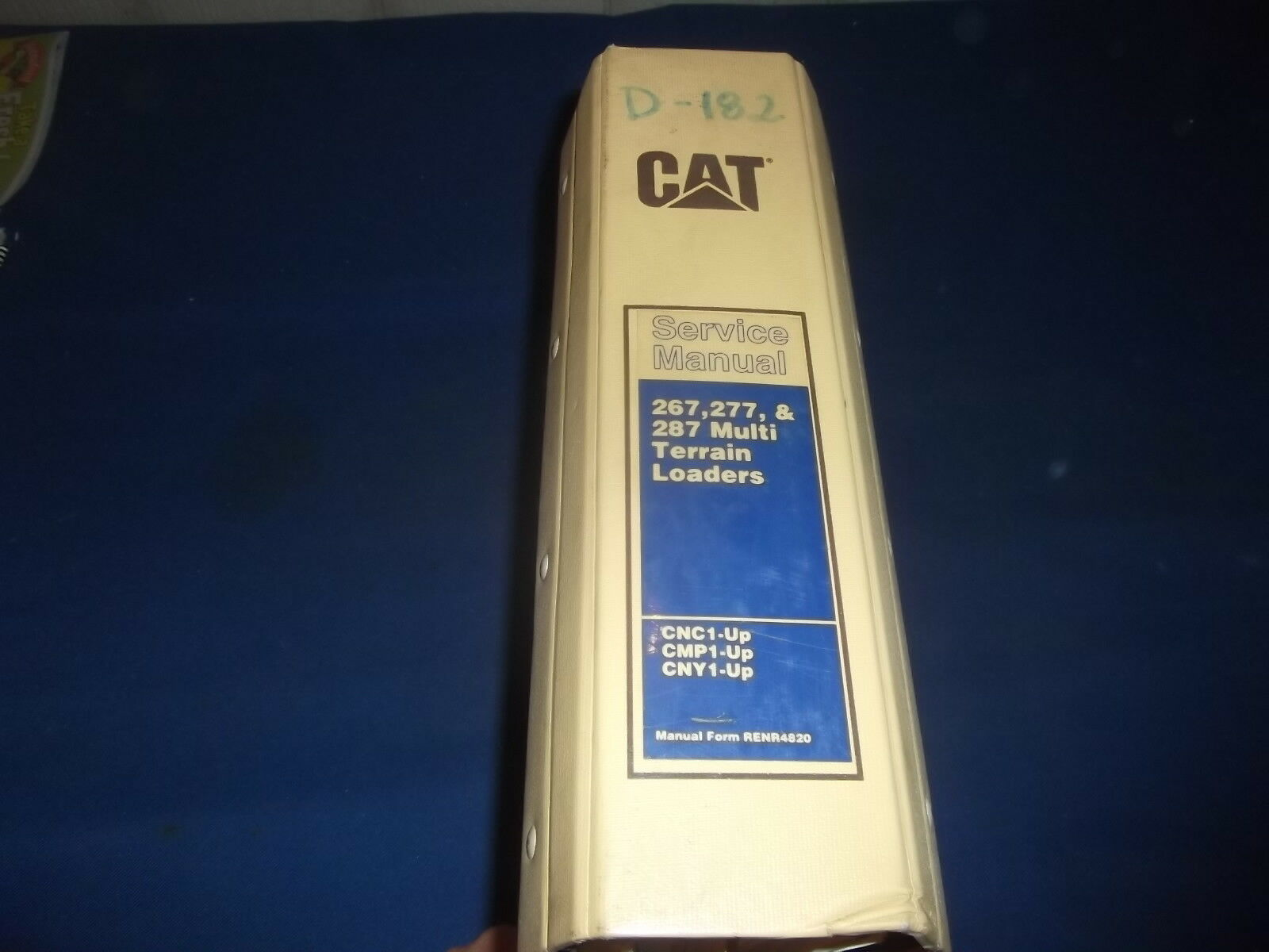 Cat Caterpillar 267 277 287 Multi Terrain Skid Steer Loader Shop Service  Manual 1 of 12Only 1 available ...