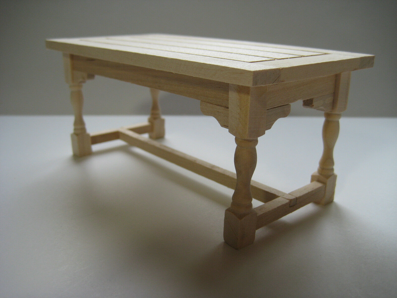 Dollhouse miniature unfinished kitchen or dining room table 1 12 scale furniture cad - Dollhouse dining room furniture ...