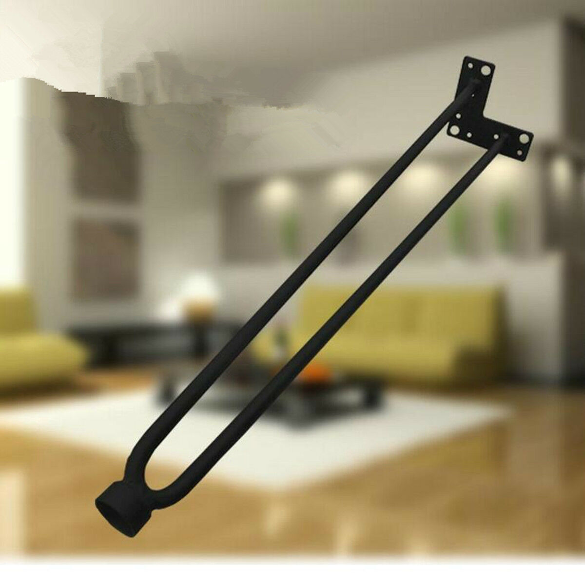 4 x 16 table hairpin legs raw steel furniture coffee table legs 40cm height picclick au. Black Bedroom Furniture Sets. Home Design Ideas