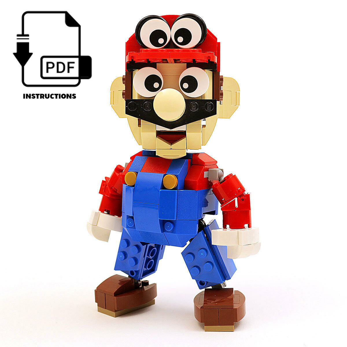 Instructions Parts List Only For Custom Lego Nintendo Mario Odyssey