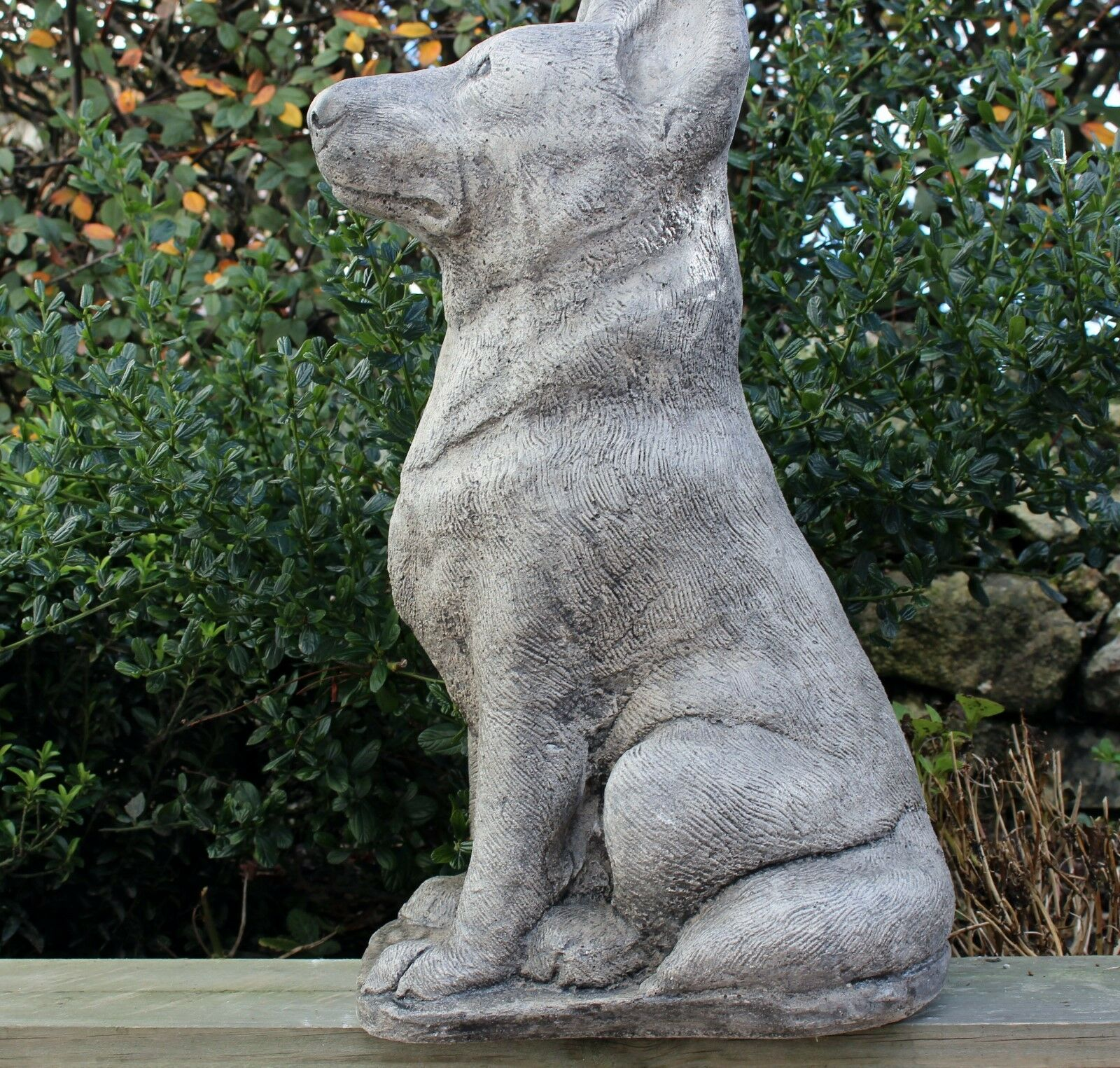 Alsatian Dog Stone Statue Garden Ornament German Shepard Cornwall Stoneware  Gift 1 Of 8Only 1 Available ...