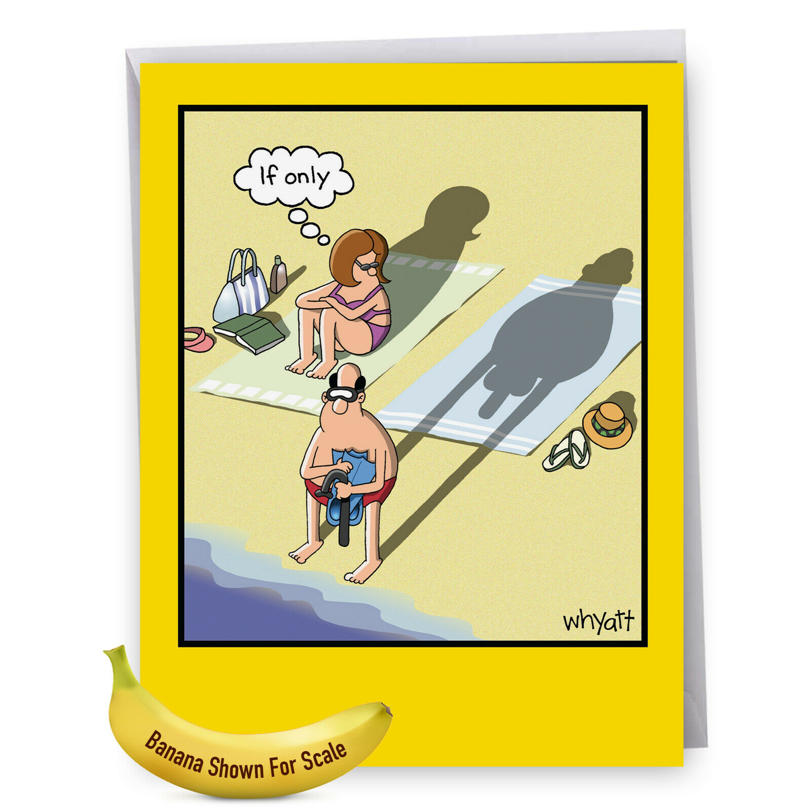 J8296BDG JUMBO FUNNY Birthday Card: If Only With Envelope ...