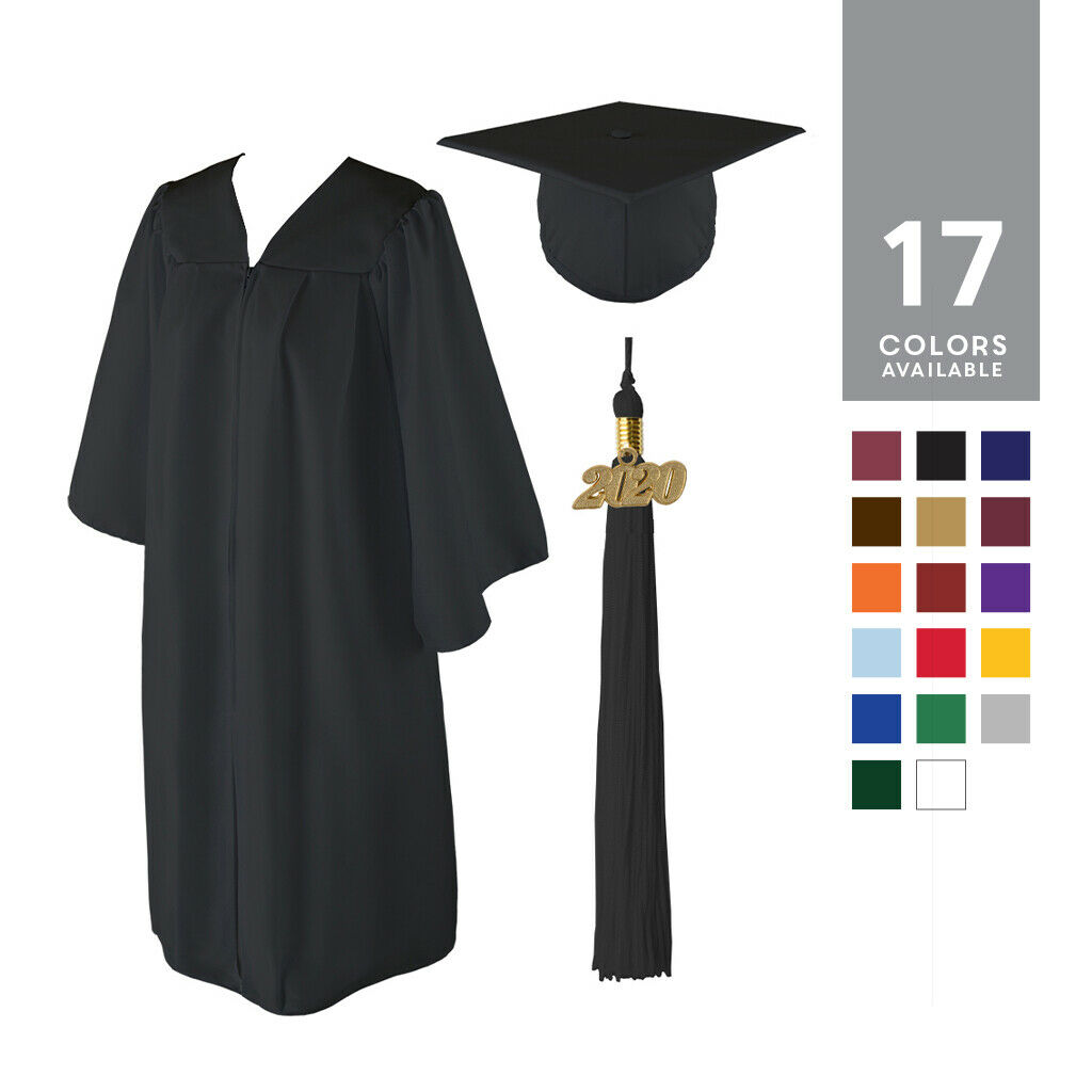 MATTE GRADUATION CAP Gown and 2018 Tassel Best Quality Lowest Price ...