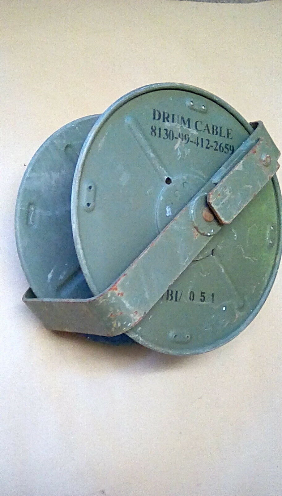 EX MOD CLANSMAN D10 Cable Reel Drum 13 Inch With Mount Bracket ...