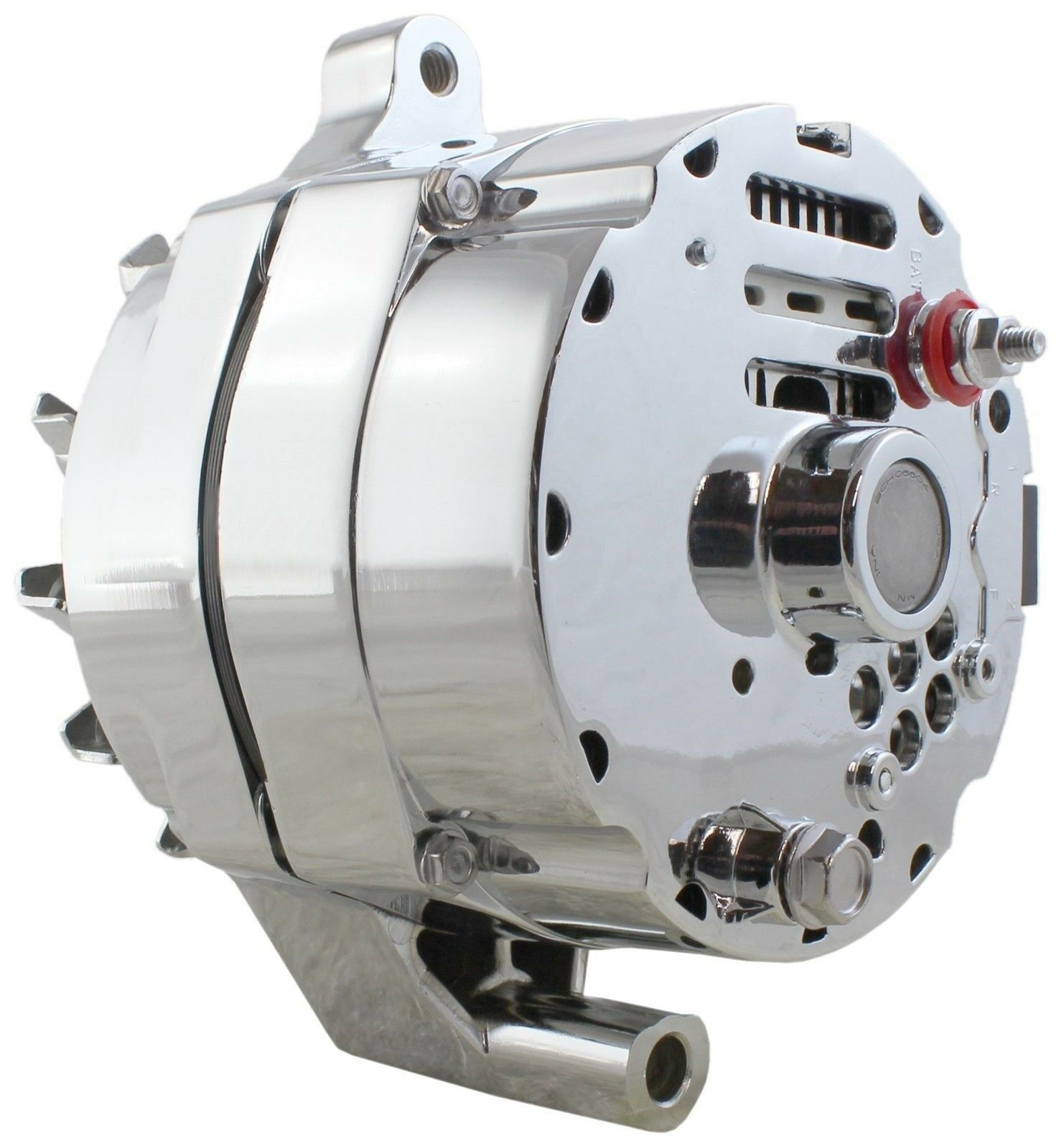 NEW ONE-WIRE ALTERNATOR 140 Amps Chrome 12V Ford 1G Hybrid with GM ...