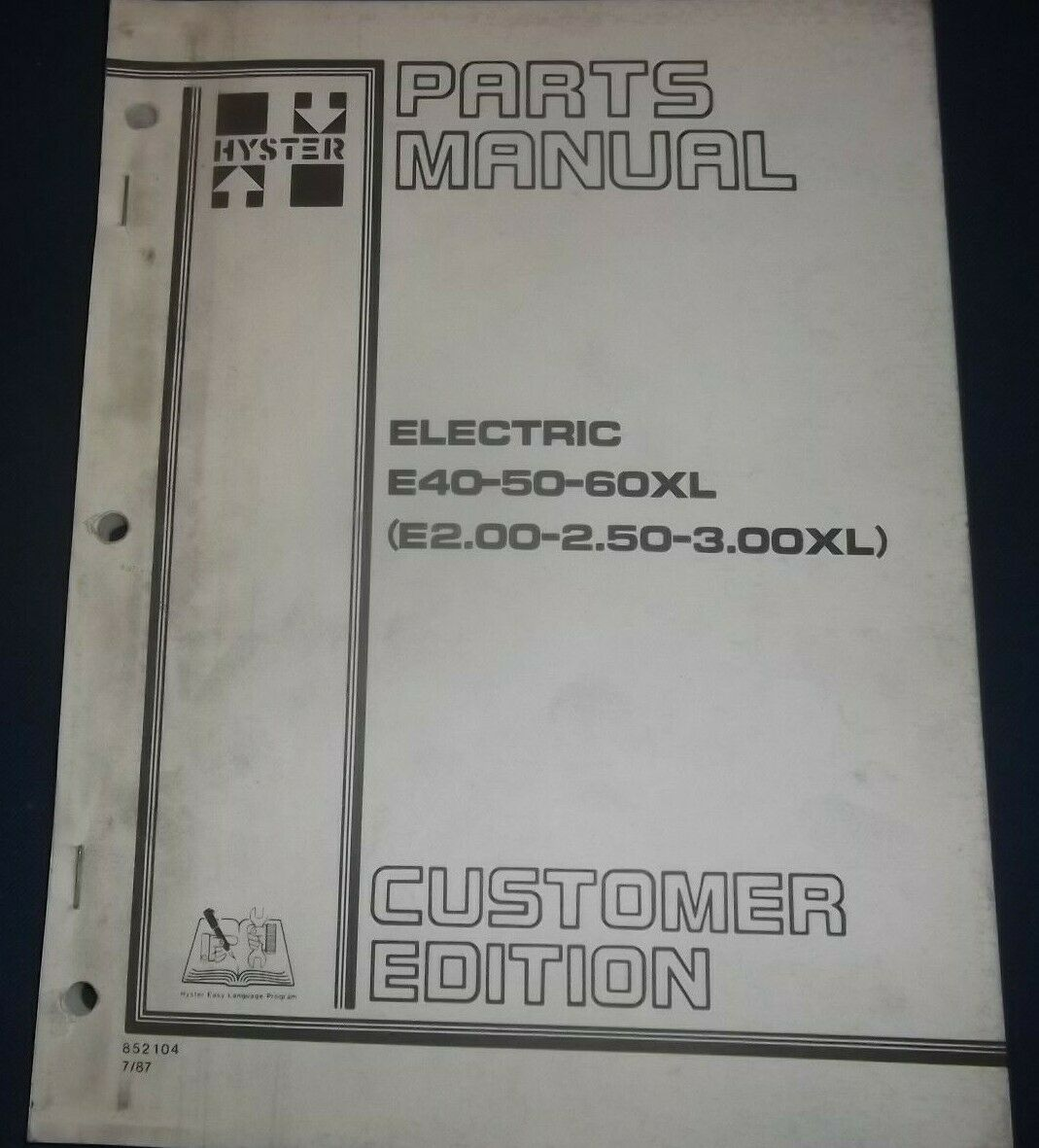 Hyster e40xl e50xl e60xl electric forklift lift truck parts manual hyster e40xl e50xl e60xl electric forklift lift truck parts manual book 1 of 4only 1 available fandeluxe Image collections