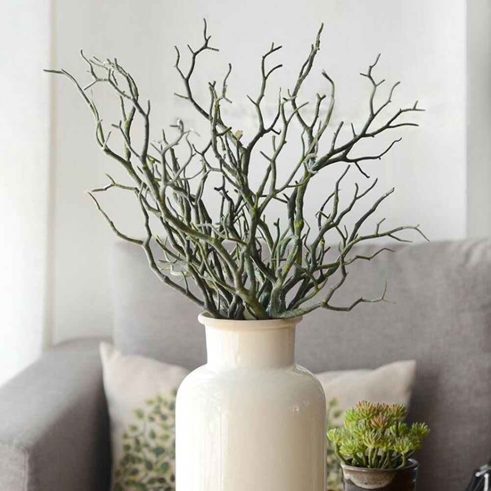 35cm artificial branch fake plastic tree dried plant home for Decoracion con ramas secas