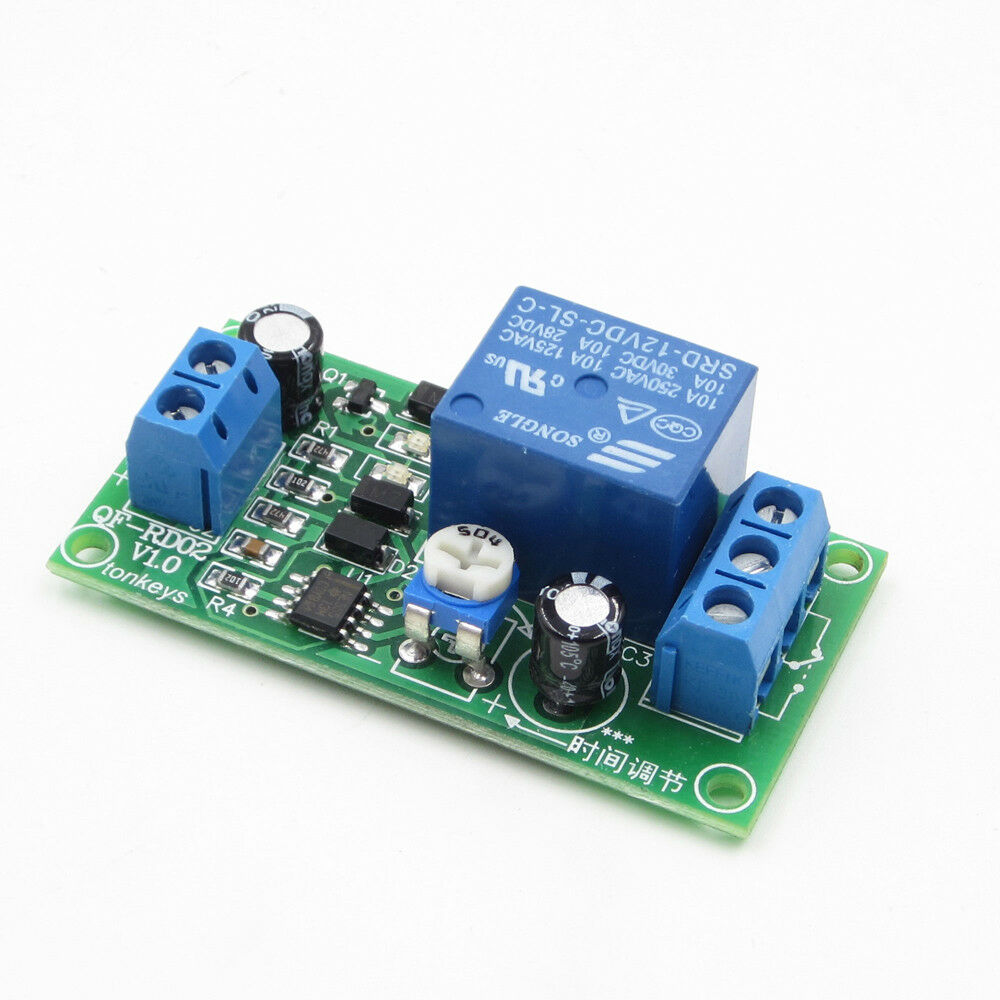 Dc12v 0 60 Second Delay Time Turn Off Switch Ne555 Adjustable Timer Elko Current Relay 1 Von 4nur 5 Verfgbar