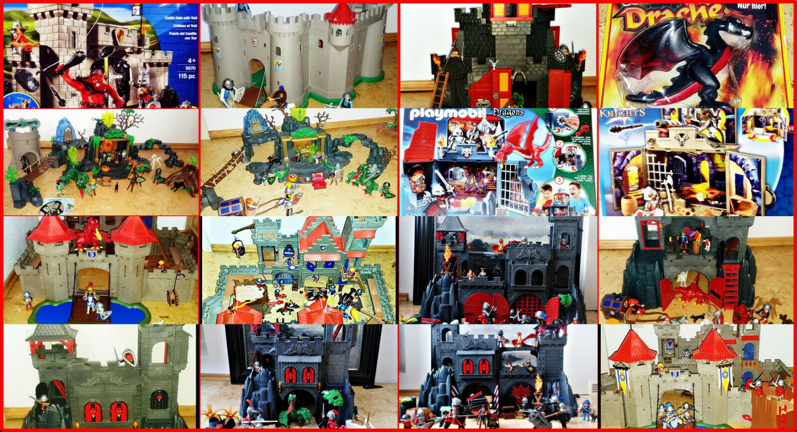 Playmobil dragon chevalier ch teau forteresse 3269 3667 - Chateau chevalier playmobil ...