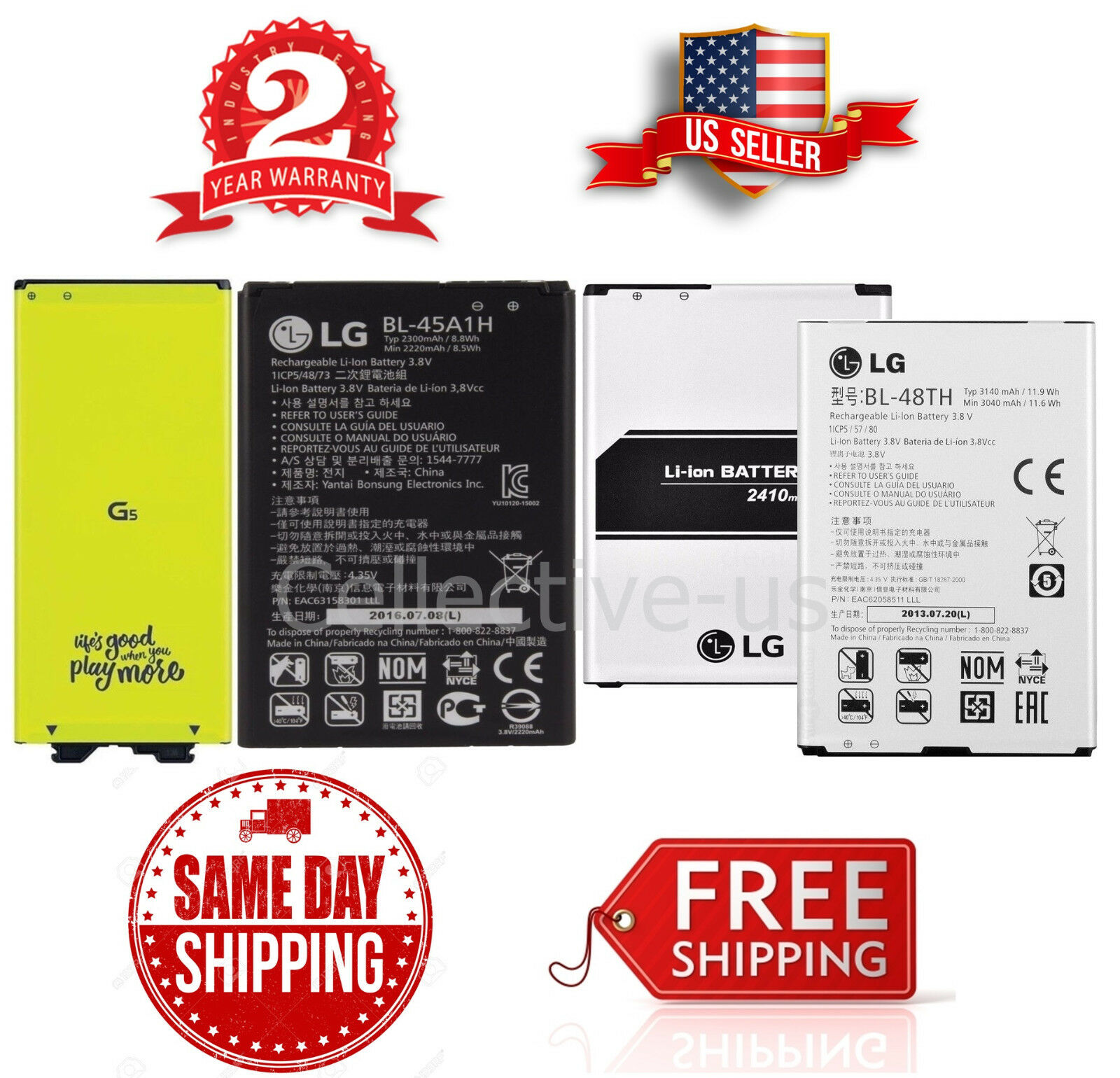 New Oem Lg G2 G3 G4 G5 G6 V10 V20 K10 K7 K8 K4 Optimus G Pro 2 D802 32gb White Free Flip Cover 1 Of 1free Shipping