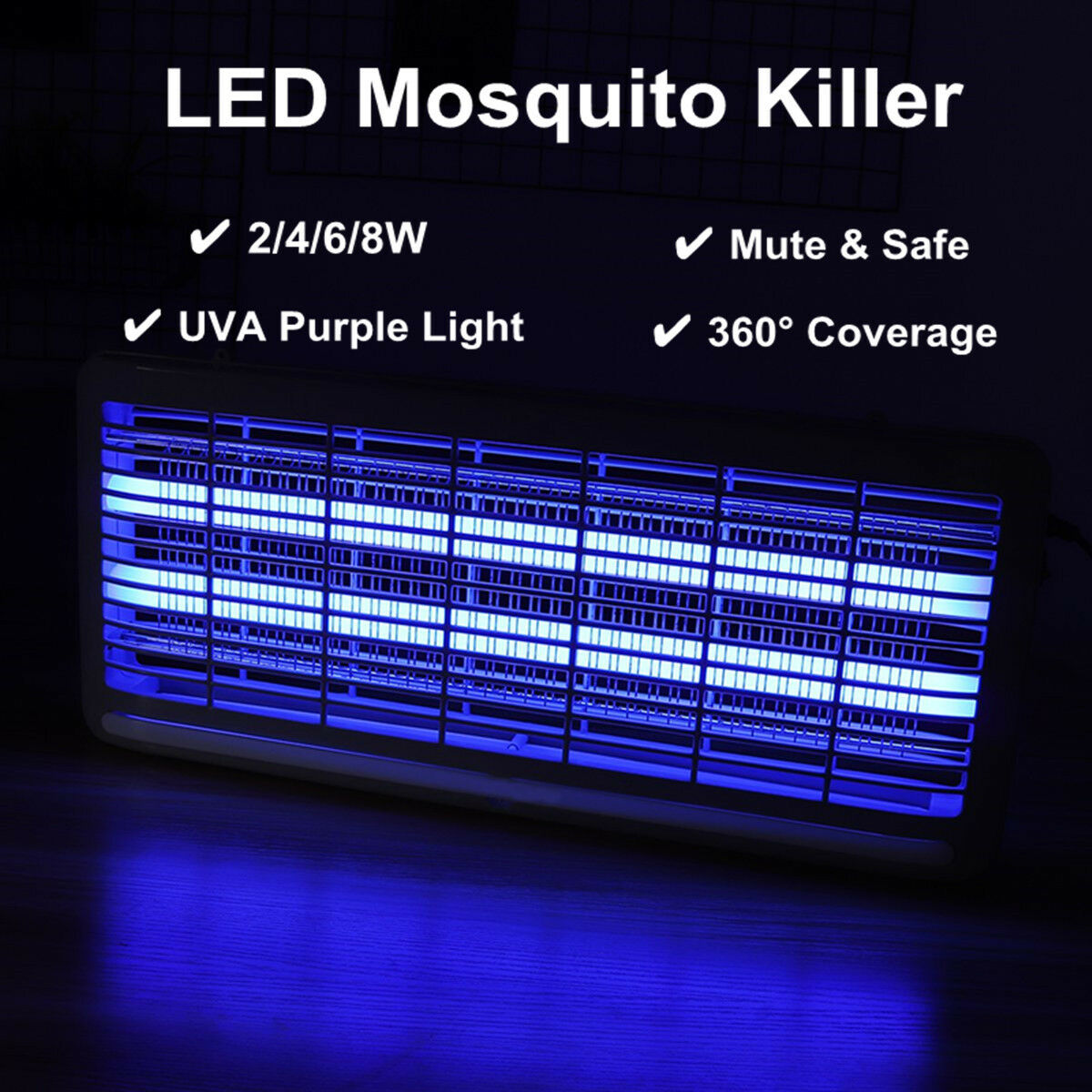 2 4 6 8w Led Electric Mosquito Killer Uv Lamp Insect Pest Fly Bug Driver Board Circuit 1 Of 8free Shipping See More