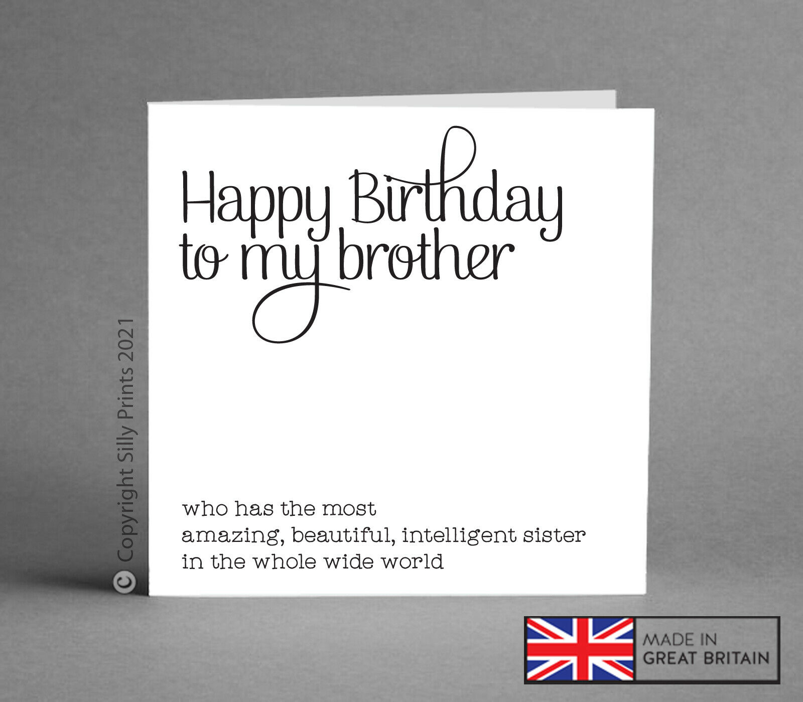 Birthday Cards For Brother From Best Sister Funny Cheeky Greetings